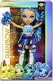 Кукла Рейнбоу Хай Скайлар Брэдшоу Чирлидер - Rainbow High Cheer Skyler Bradshaw Blue Cheerleader 572077, фото 5