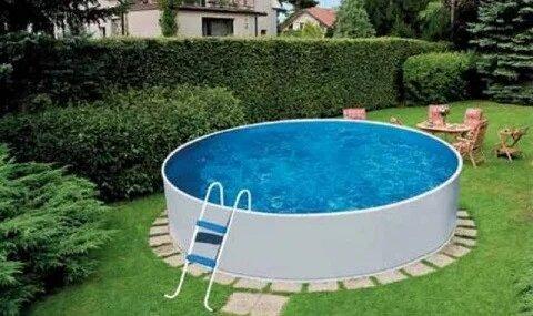 Сборный бассейн Azuro Basic 240 (240 х 90 см), Металлический бассейн, Круглая, 240 х 90 см, Чехия