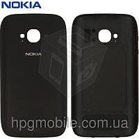 Задняя панель корпуса для Nokia Lumia 710, c боковыми кнопками, черный, оригинал