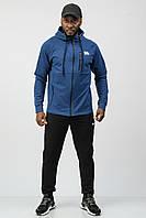 Спортивный костюм мужской тонкий (весна-лето-осень) c капюшоном комбинированный