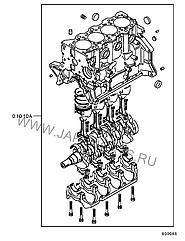 Блок цилиндров в сборе 4G63 MD178414 995808 Galant 88-92r Mitsubishi