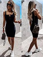 Стильне жіноче облягаючу сукню на бретелях, фото 1