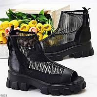 Дизайнерские модельные черные летние женские ботинки мартинсы весна-лето 2021