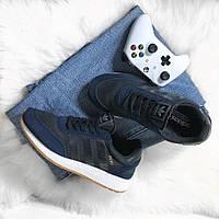 Кроссовки мужские Adidas Iniki Runner Collegiate Navy (Черный). Мужские кроссовки Адидас темно-синего цвета., фото 1