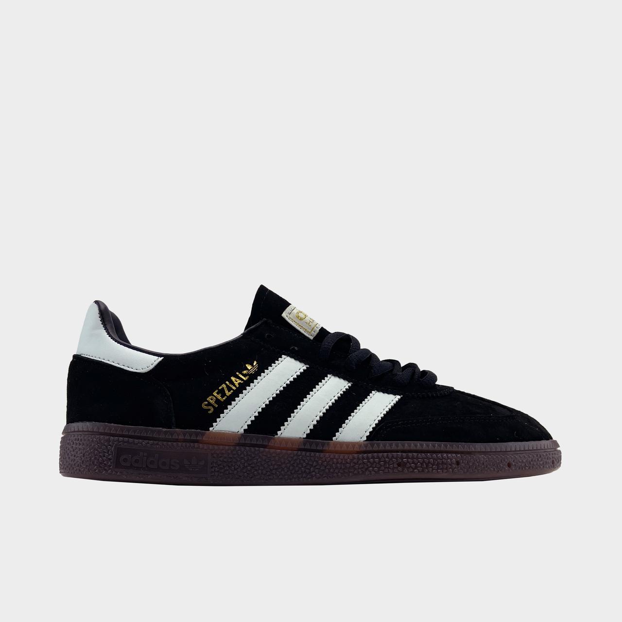 Кроссовки мужские Adidas Spezial Black White (Черный). Мужские кроссовки Адидас черного цвета.