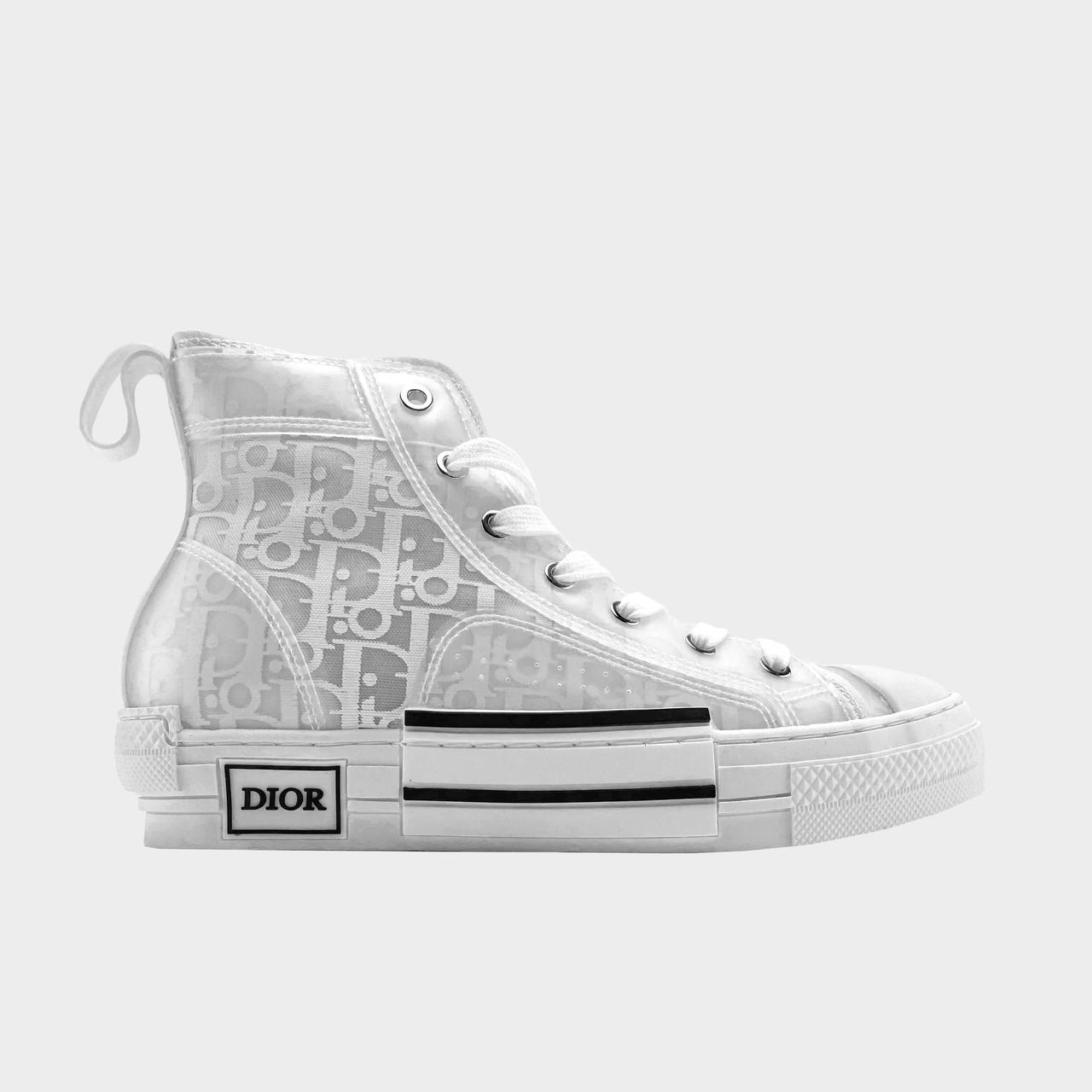 Кроссовки женские Dior B23 High-Top Silver White (Белый). Женские кроссовки Диор белого цвета.