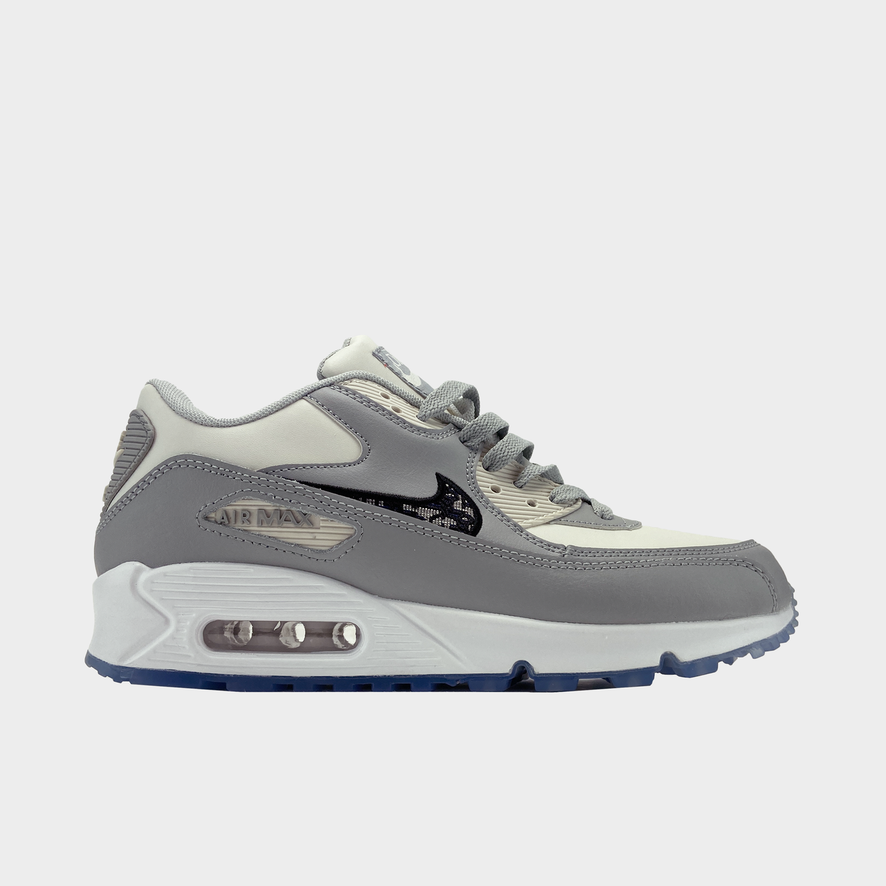 Кроссовки мужские Nike Air Max 90 Grey White (Серый). Мужские кроссовки Найк Аир Макс серого цвета.