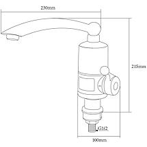 Кран водонагрівач проточний, Змішувач з миттєвим підігрівом води, Электрокран для нагріву води, 220В, фото 2