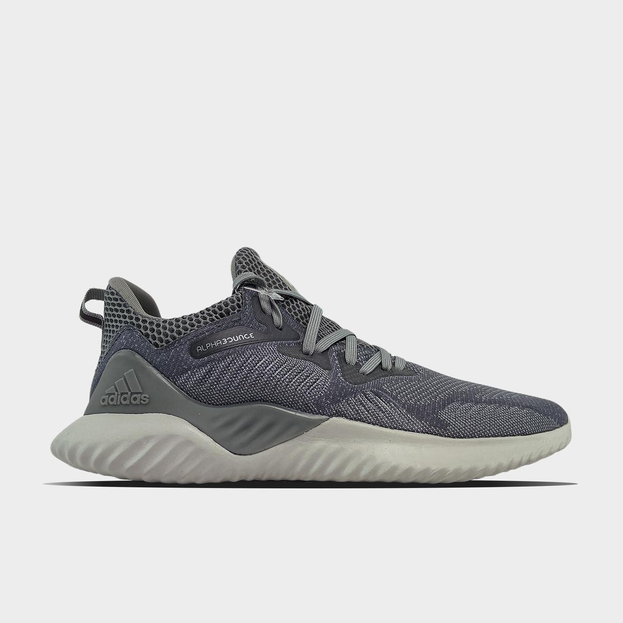 Кроссовки мужские Adidas Alpha Bounce Gray (Серый). Мужские кроссовки Адидас серого цвета.
