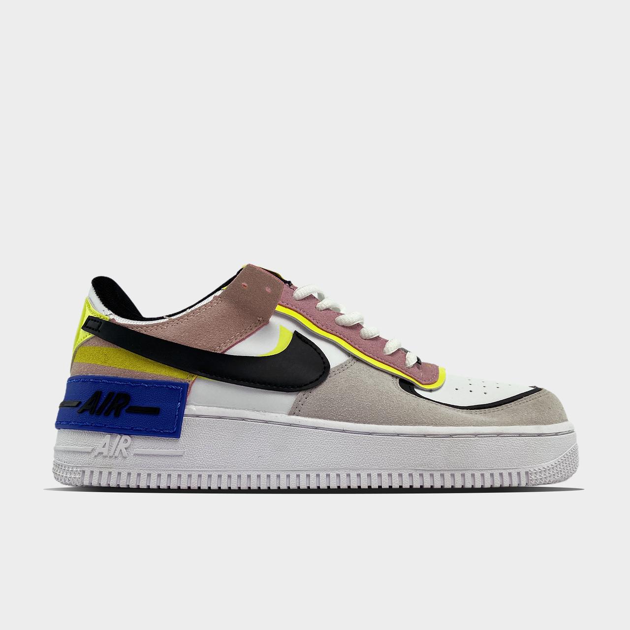 Кроссовки женские Nike Air Force Shadow Barely Volt (Белый). Женские кроссовки Найк.