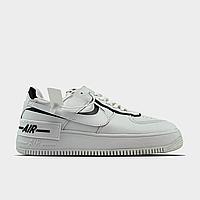 Кроссовки женские Nike Air Force Shadow White Black (Белый). Женские кроссовки Найк белого цвета.
