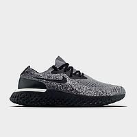Кроссовки мужские Nike Epic React Flyknit Cookies & Cream (Серый). Мужские кроссовки Найк серого цвета.