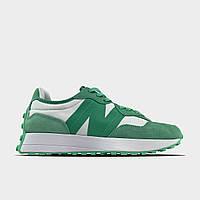 Кроссовки женские New Balance 327 Green White. (Зелёный). женские кроссовки Нью Беленс зеленого цвета.