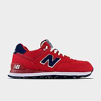 Кроссовки женские New Balance 574 Red WL574POR (Красный). Женские кроссовки Нью Беленс красного цвета.