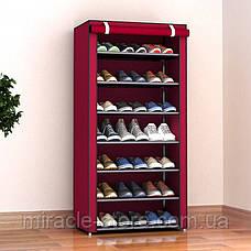 Складной тканевый шкаф для обуви на 7 полок органайзер, фото 3