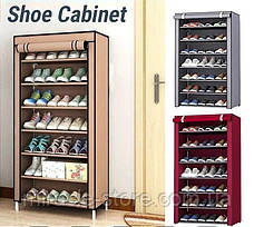 Складаний тканинний шафа для взуття на 7 полиць органайзер, фото 3