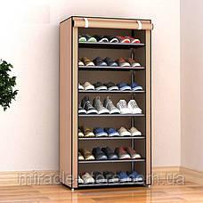 Складаний тканинний шафа для взуття на 7 полиць органайзер, фото 2