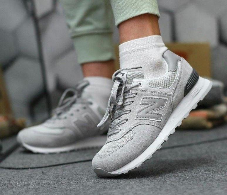Серые женские кроссовки в стиле New Balance 574 grey