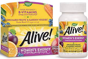 Nature's Way, Alive! комплекс витаминов и минералов для женщин, Women's Energy Multivitamin, 50 таблеток. США