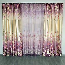 Готовые шторы с тюлем