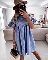 Женское стильное расклешенное легкое платье, фото 1
