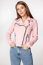 Укороченная летняя куртка-косуха 205\2 марсала