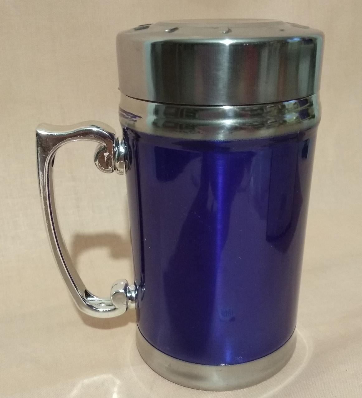 Термос-чашка   380мл.металл
