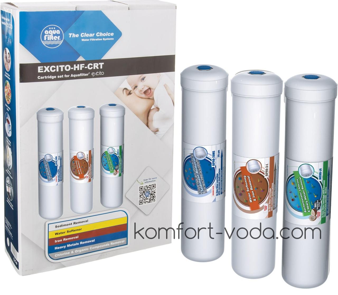 Комплект линейных картриджей Aquafilter EXCITO-HF-CRT