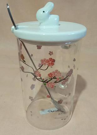 Чашка з ложечкою і з кришкою в подарунковій коробці, фото 2