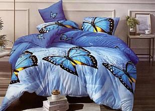 Комплект постельного белья ткань бязь полуторный размер 150х215 см рисунок бабочки