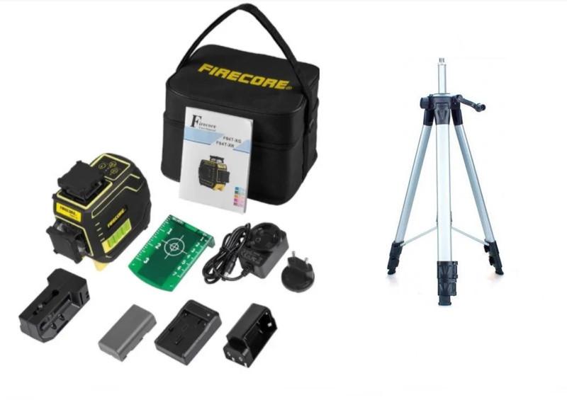 СУПЕРКОМПЛЕКТАЦИЯ ᐉ ᐉ Лазерний рівень Firecore F94T-XG➤ ГАРАНТІЯ 1рік ➤ штатив в подарунок