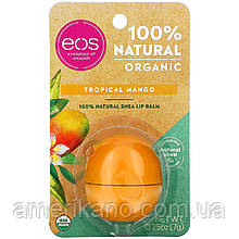 """Бальзам для губ EOS  Tropical Mango """"Манго"""". США.  на индивидуальном блистере"""