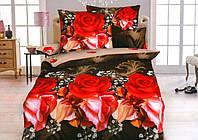 Набор постельного белья полуторный размер ткань бязь 150х215 см Цветы