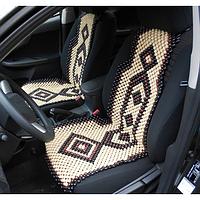Накидка-масажер / Деревянная накидка-массажер на сиденье авто (лакированная). Деревянные автомассажеры