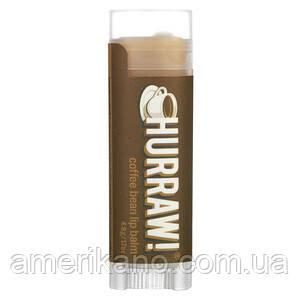 Натуральный бальзам для губ Hurraw! Coffee Bean Lip Balm, аромат кофейных зерен