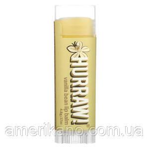 Натуральный бальзам для губ HURRAW! cо вкусом ванили, США