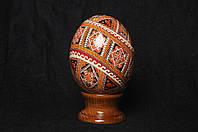 Писанка из страусиного яйца, писанки ручной работы из страусиных яиц