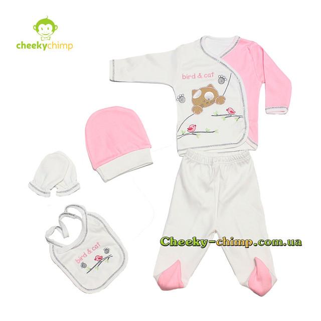 Подарочный набор Bird s cat Pink для новорожденной