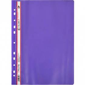 """Швидкозшивач А4 з перфорацією """"C"""" пластиковий фіолетовий 69852"""