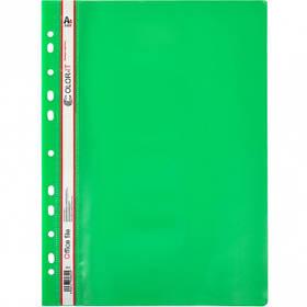 """Швидкозшивач А4 з перфорацією """"C"""" пластиковий зелений 69852"""