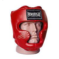 Боксерський шолом тренувальний PowerPlay 3043 Червоний M, фото 1