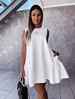 Женское стильное расклешенное легкое платье с карманами, фото 1