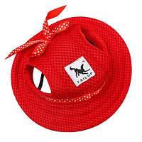 Панамка для собак, червоний