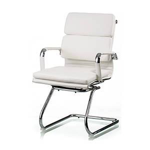 Офисное кресло Special4You Solano-3 белое на полозьях хром