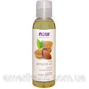Масло сладкого миндаля Now Foods, Solutions, Sweet Almond Oil, натуральное, увлажняющее, 118 мл