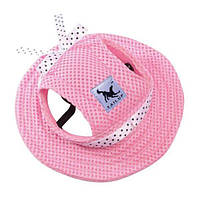 Панамка для собак, рожевий M