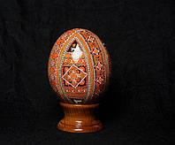 Писанка из страусиного яйца, писанки из страусиных яиц ручной работы