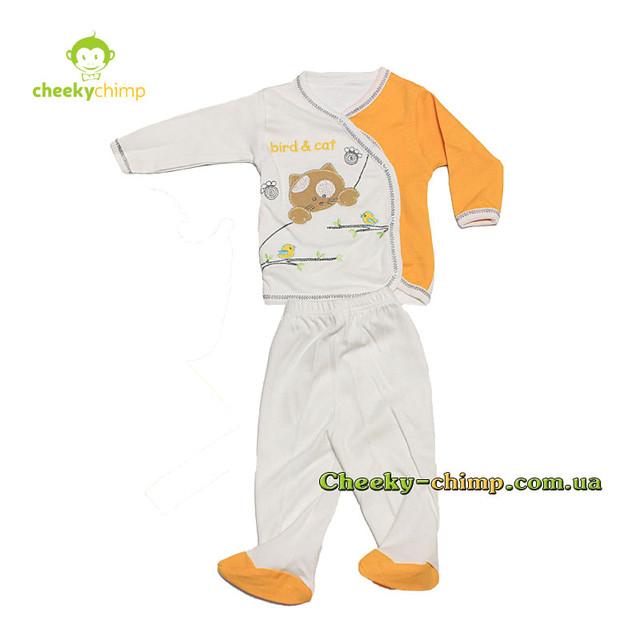 Подарочный набор Bird s cat  Yellow для новорожденной