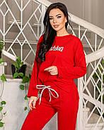 Универсальный женский костюм (брюки плюс кофта), 00720 (Красный), Размер 42 (S), фото 2