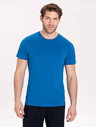 Базовая хлопковая мужская футболка Volcano синий